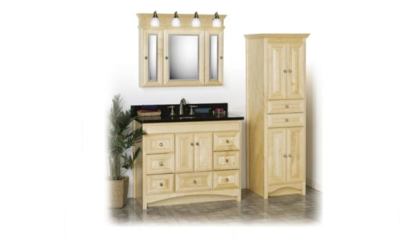 "RAVENNA42 600x352 - Strasser Woodenworks 42"" Ravenna Vanity, 7 Door Styles, 15 Finishes"
