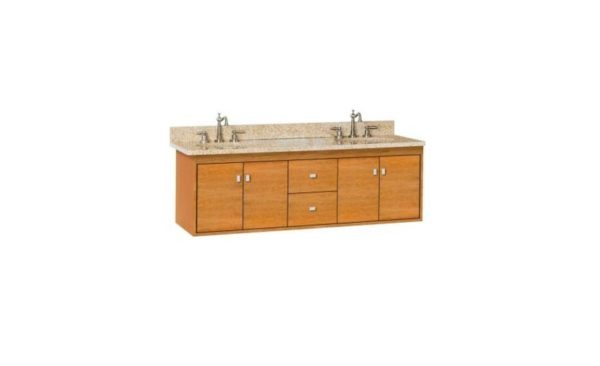 "SODO60DOUBLE 600x366 - Strasser Woodenworks 60"" SoDo Double Sink Wall Mount Vanity, 4 Door Styles, 15 Finishes"