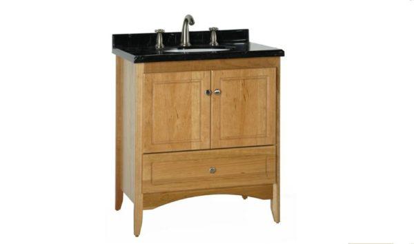 "WALLINGFORD30 600x354 - Strasser Woodenworks 30"" Wallingford Vanity, 7 Door Styles, 15 Finishes"