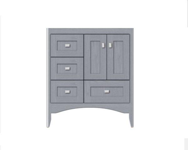 "WALLINGFORD30L 600x480 - Strasser Woodenworks 30"" Wallingford Vanity, 7 Door Styles, 15 Finishes"