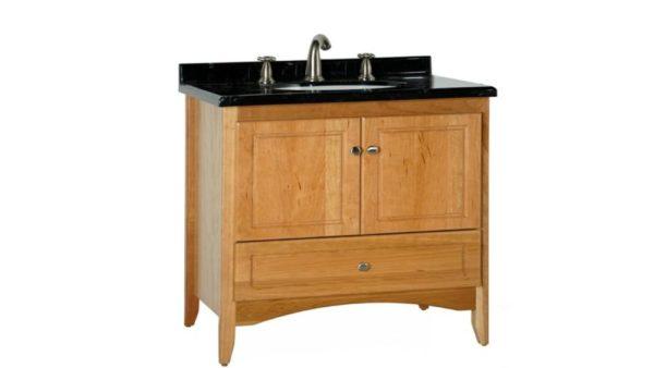 "WALLINGFORD36 600x338 - Strasser Woodenworks 36"" Wallingford Vanity, 7 Door Styles, 15 Finishes"