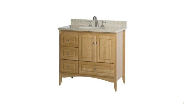 "WALLINGFORD36R 600x338 - Strasser Woodenworks 36"" Wallingford Vanity, 7 Door Styles, 15 Finishes"