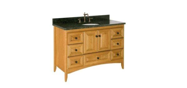 "WALLINGFORD48 600x283 - Strasser Woodenworks 48"" Wallingford Vanity, 7 Door Styles, 15 Finishes"