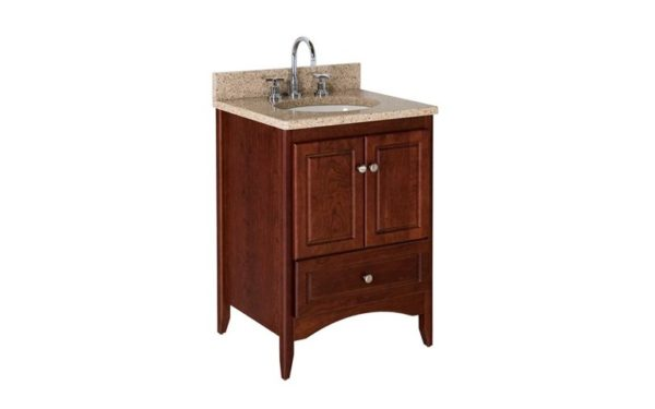 "WALLINGOFRD24 600x375 - Strasser Woodenworks 24"" Wallingford Vanity, 7 Door Styles, 15 Finishes"
