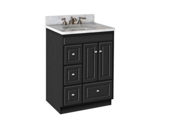 "ml24ld 600x431 - Strasser Woodenworks 24"" Montlake Vanity,7 Door Styles, 15 Finishes"