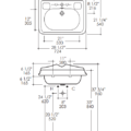 """3096S 120x120 - 26"""" Lacava Grace Vanity Base & Sink-Avail in Multiple finishes"""