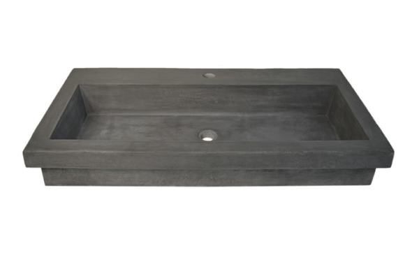 "3619slate 600x379 - 48"" Native Trails Cuzco Vanity Base w/Optional top & sink - Carrara"
