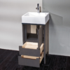 "4060a 100x100 - 17"" Lacava Light Vanity base & sink-Avail in Multiple finishes"