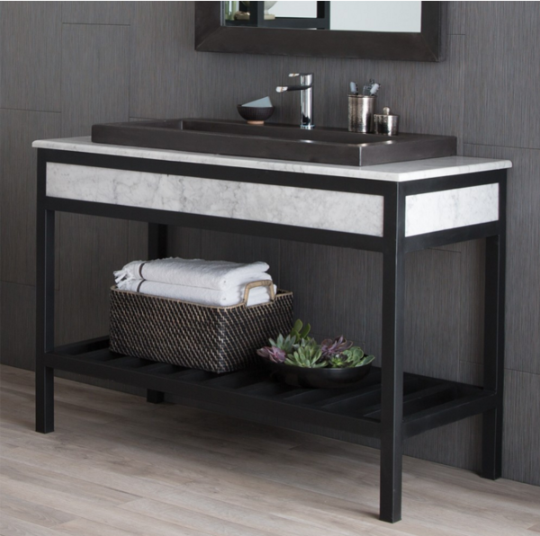 "48CUZCOWC 600x596 - 48"" Native Trails Cuzco Vanity Base w/Optional top & sink - Carrara"