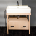 """5033 120x120 - 31.5"""" Lacava Aquamedia Vanity Base & Sink-Avail in Multiple finishes"""