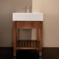 """5464 120x120 - 23.5"""" Lacava Aqualuna Vanity Base & Sink-Avail in Multiple finishes"""