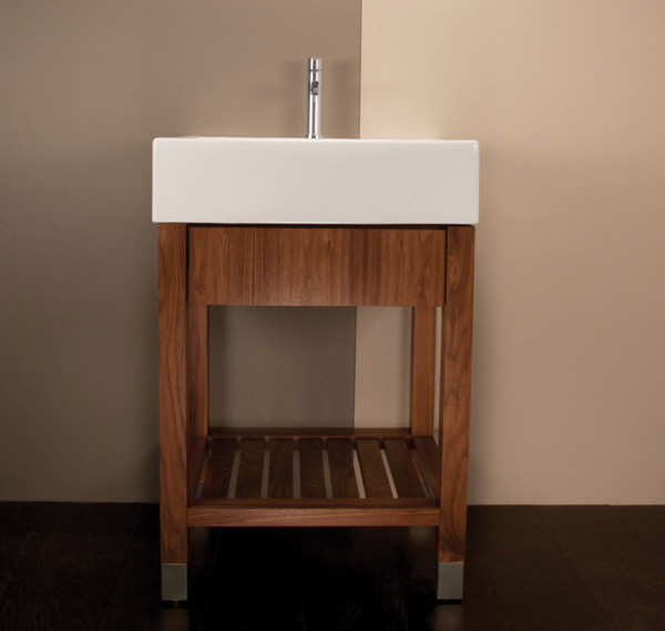 """5464 600x569 - 23.5"""" Lacava Aqualuna Vanity Base & Sink-Avail in Multiple finishes"""