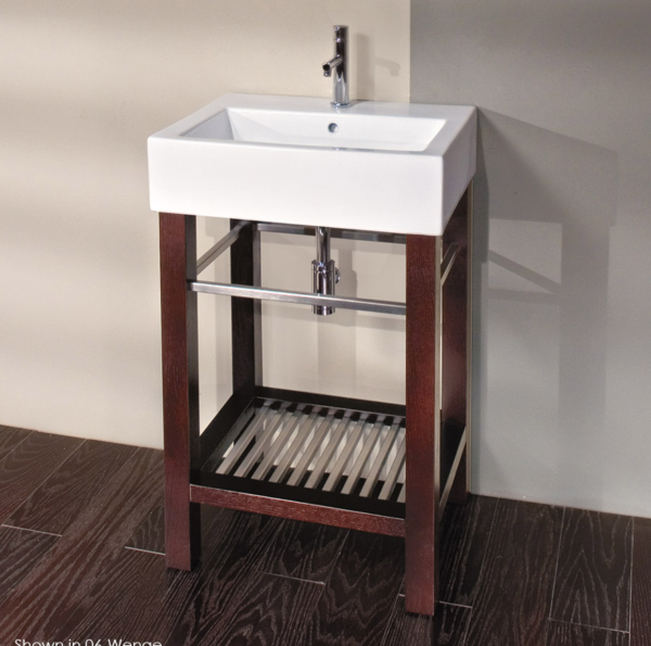 "5464T 600x595 - 23 5/8"" Lacava Aquagrande Vanity base & sink-Avail in Multiple finishes"