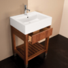 """5464a 100x100 - 23.5"""" Lacava Aqualuna Vanity Base & Sink-Avail in Multiple finishes"""