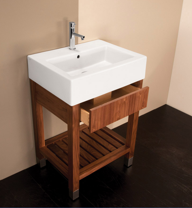 """5464a 768x831 - 23.5"""" Lacava Aqualuna Vanity Base & Sink-Avail in Multiple finishes"""