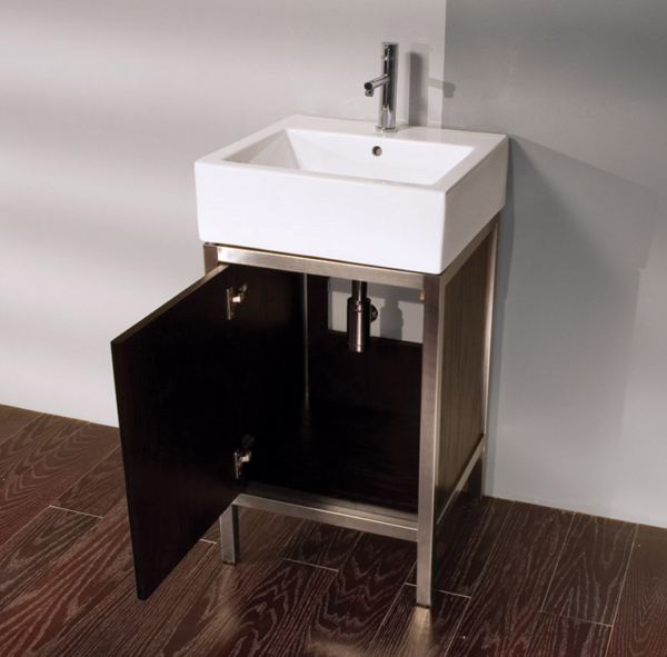 "7774A 600x591 - 19.25"" Lacava Quadro Vanity Base & Sink-Avail in Multiple finishes"