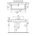 "AGS5460S 120x120 - 40"" Lacava Aquagrande Console & Sink 5460"
