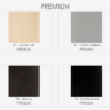 "PREMIUMCOLORS 100x100 - 19.25"" Lacava Quadro Vanity Base & Sink-Avail in Multiple finishes"