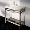 """ST004 120x120 - 32"""" Lacava Stainless Console &  Stone Sink"""