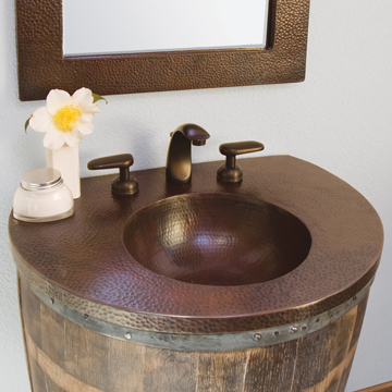 """vnw241t - 24"""" Native Trails Bordeaux Wall mount Vanity Base- Avail in 2 colors"""