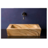 """101 100x100 - 19"""" Stone Forest Sandstone Moso Vessel Sink"""
