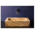 """101 120x120 - 19"""" Stone Forest Sandstone Moso Vessel Sink"""