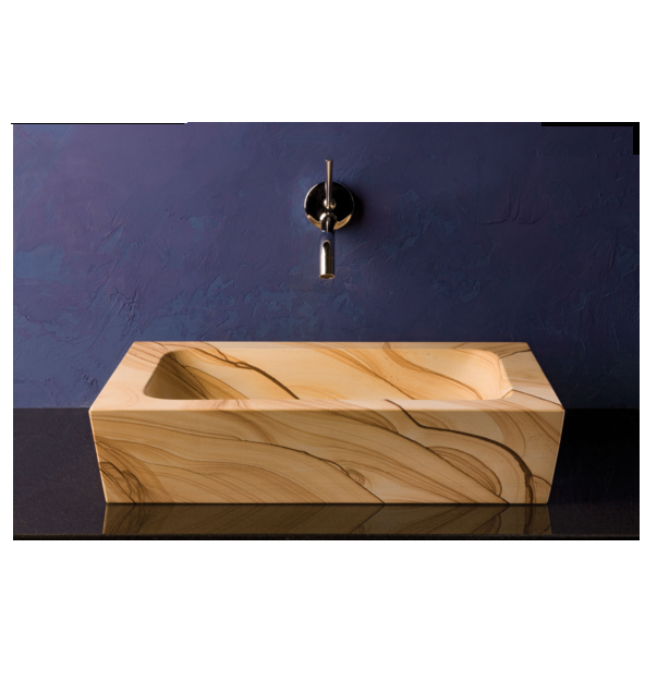 """101 - 19"""" Stone Forest Sandstone Moso Vessel Sink"""
