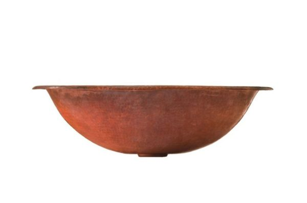"20PA 600x397 - 19"" x 13.25"" Thompson Traders Fired Copper Matisse Sink"