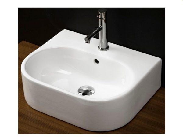 "2962 600x458 - 19.75""  Lacava Tre Wall Mount Sink-Optional Shroud & Pedestal"
