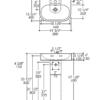 "2962s 100x100 - 19.75""  Lacava Tre Wall Mount Sink-Optional Shroud & Pedestal"