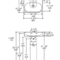 "2962s 120x120 - 19.75""  Lacava Tre Wall Mount Sink-Optional Shroud & Pedestal"