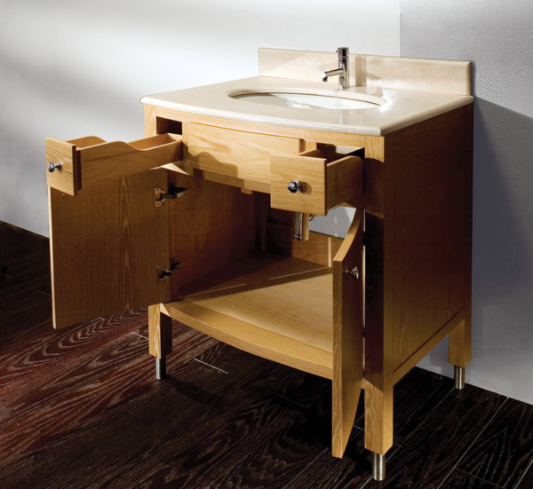 "3501A 600x551 - 32"" Lacava Luna Vanity Base Optional Top & sink-Avail in Multiple finishes"