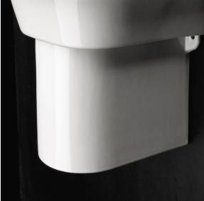 "4207 - 15.75""  Lacava Piazza Wall Mount Sink-Optional Shroud & Pedestal"