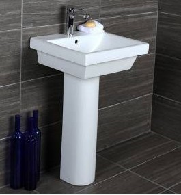 """4272ped - 20""""  Lacava Piazza Wall Mount Sink 4272"""