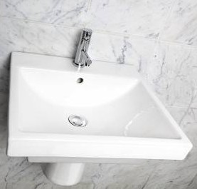 19 5 Quot Lacava Piazza Wall Mount Sink Optional Shroud