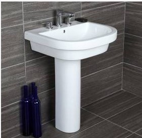 "4281ped - 23 5/8""  Lacava Piazza Wall Mount Sink-Opt Shroud & Pedestal"