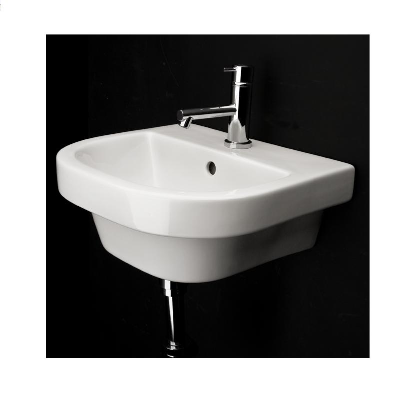 Lacava Piazza Wall Mount Sink Optional Shroud Pedestal Prev Next