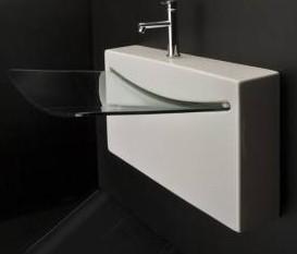 "4500ga - 27.5""  Lacava Block Wall Mount Sink w/glass lav"