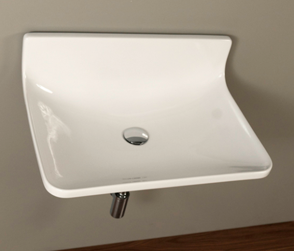 "4500p 600x512 - 25.5""  Lacava Block Wall Mount Sink"