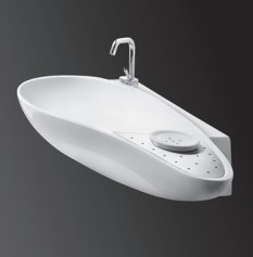 "4602a - 38.5""  Lacava Ovale Wall Mount Sink"