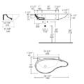"4602s 120x120 - 38.5""  Lacava Ovale Wall Mount Sink"