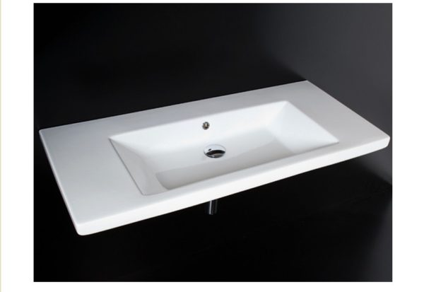 "4650 600x413 - 43.5""  Lacava Sottile Wall Mount Sink"