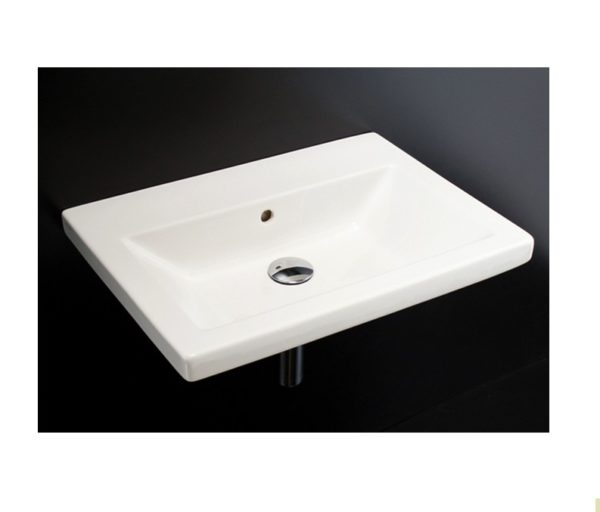 """4652 600x512 - 23 5/8""""  Lacava Sottile Wall Mount Sink"""