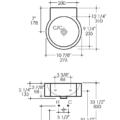 "5059s 120x120 - 10 7/8""  Lacava Twin Set Wall Mount Sink"