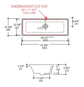 """5260s - 40.5"""" Lacava Aquasei Undermount Sink 5260"""