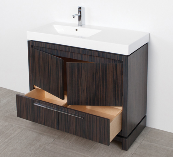 "5457C 600x546 - 35.5"" Lacava Aquaquattro Vanity Base w/Sink-Avail in Multiple finishes"
