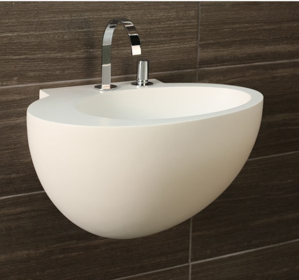 "6050 600x561 - 24""  Lacava Suave Wall Mount Sink"