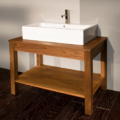 "7772 120x120 - 39 3/8"" Lacava Quadro Vanity Base Optional Sink-Avail in Multiple finishes"