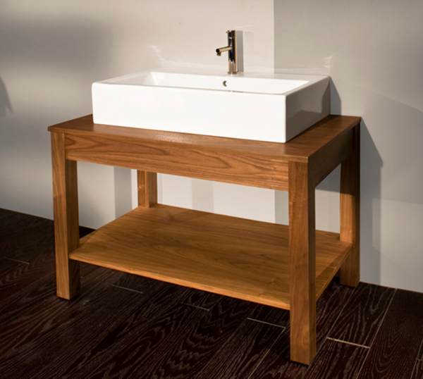 "7772 600x538 - 39 3/8"" Lacava Quadro Vanity Base Optional Sink-Avail in Multiple finishes"