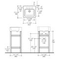 """7773APS 120x120 - 15 7/8"""" Lacava Quadro Console & Sink"""